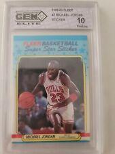 1988 89 Fleer Michael Jordan #7 Sticker Gem Elite Pristine 10 PSA crossover?