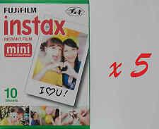 Fujifilm Instax Mini Instant Film White 5 Pack 50 Pcs for 7s 8 25 50s 90 Cameras