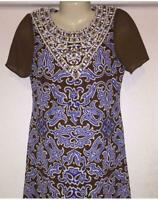 Tory Burch Sandrine Brown Brocade Silk Georgette Beaded Shift Dress Size 6 $595