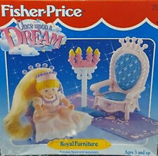 Fisher Price Once Upon a Dream ROYAL FURNITURE dollhouse set 1995 NIB thrones