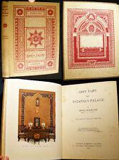 1922 SIGNED INSCRIBED GREY FAIRY TITANIAS PALACE CHILDRENS FANTASY TREASURE HUNT