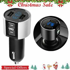 Wireless In-Car Bluetooth FM Transmitter MP3 Radio Adapter Car Kit USB Charger