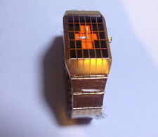 TOKYOFLASH SEAHOPE ELEENO LINES ANALOG ROSE GOLD LED WATCH, COOL, RARE