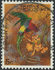 PNG 1967  5c  Christmas Territory Parrots  FU  (36)  Very clean