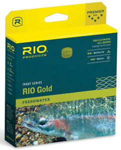 Rio Gold WF-4  Floating Fly Line - Moss/Gold -Free US Ship