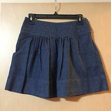 NWOT $54 Thistlepearl Urban Outfitters Denim Mini Skirt w/ Pockets 0 Extra Small