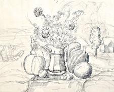 Dorothy Eaton Drawing (LIV) Still Life in Landscape