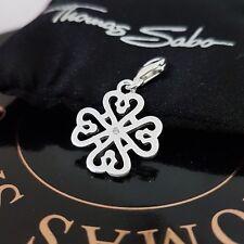 THOMAS SABO ❤Glück Kleeblatt Herz Charm Club Armband Kette Anhänger 925 Silber❤❤