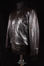Cappotti e giacche da uomo Bomber, Harrington in pelle taglia M