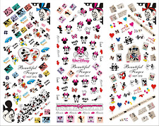 Nail Art Stickers Transfers Decals HOT Series Mickey & Minnie Mouse 310-312
