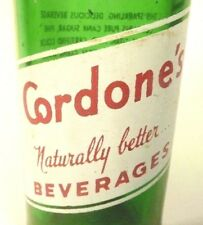 vintage ACL Soda POP Bottle:  #2 green  CORDONE of GLOVERSVILLE, N.Y.- 7  oz ACL