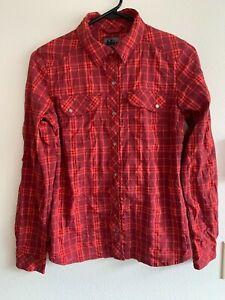REI Women's Plaid Shirt Size XS Snap Front Long Sleeve Outdoor Pink