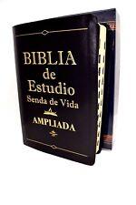 BIBLIA DE ESTUDIO SENDA DE VIDA  LETRA GRANDE PIEL NEGRA INDICE REINA VALERA1960