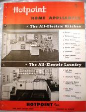 Vtg HOTPOINT GE Appliances Catalog RETRO Kitchen Ranges Ovens Refrigerators 1947
