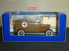 Tintin NO.51 en América Libro Comic Diecast Modelo Marrón Medic ambulancia Camión