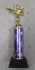 male Karate blue trophy award theme column weighted base
