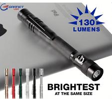 Garnetusa LED Penlight Aluminium 130 Lumens Black Waterproof With Pocket Clip