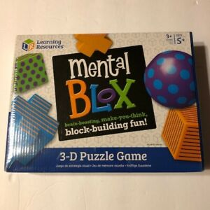 Learning Resources Mental Blox 3-D Puzzle Game new sealed ages 5+