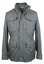 Boss Selection Jacket larov in 54XL Grey Water-resistant with Collar Hood Silk