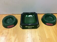 MANNS HUNTSMAN ENGLISH BREWERY ASHTRAY Pub Man Cave VINTAGE COLLECTIBLE GLASS