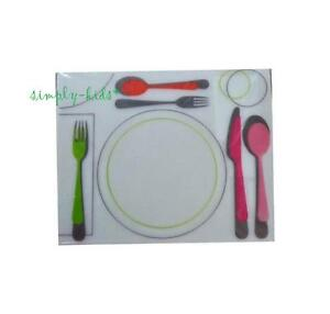 """IKEA Kids Placemat x 1 Children Learn Correct Table Settings KLISTRIG 11x14"""""""