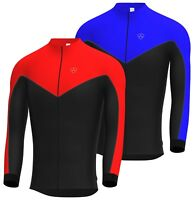 Mens Cycling Jersey Full Sleeve Racing Cold Wear Thermal Biking Jacket