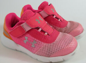 Under Armour Surge RN Running Shoes Toddler Girls 7K Pink Sneakers 3020516-602