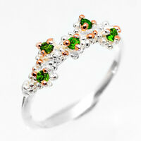 Wedding Engagement Design Natural Chrome Diopside Sterling Silver Ring / RVS263