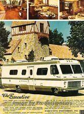 1976 Executive Coach Motorhome Camper Advertisement Print Art Car Ad J860