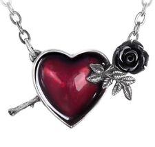 Alchemy Gothic Wounded By Love Halskette Silberfarben