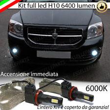 KIT FULL LED DODGE CALIBER LAMPADE H10 FENDINEBBIA CANBUS 6400L 6000K NO ERROR