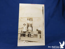 OCCUPATION Carpenters Builders RPPC Hard at Work Hand Saw Hammer Tools Boards