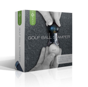 Ingenious Golf Ball Monogram Stamper Personalise your Golf Balls