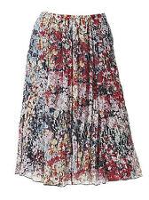Geblümte knielange Damenröcke aus Polyester für die Freizeit