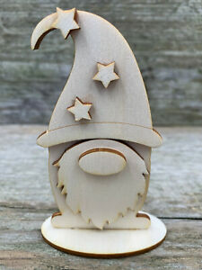 3D FREESTANDING GONK/GNOME  WOODEN VARIOUS SIZES CRAFT SUPPLY PLYWOOD BLANK
