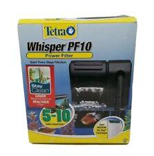 Tetra Whisper PF10 Power Filter, Quiet 3-Stage  5-10 Gal Aquariums Open Box