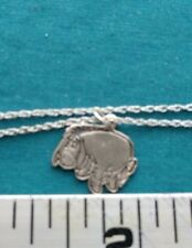 Sterling Silver Chain with Disney EEYORE Charm #1315