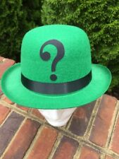 RIDDLER Inspired Green Felt Derby Bowler HAT Cosplay Comic Con Halloween costume