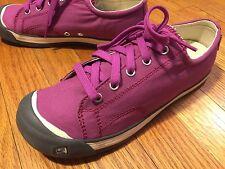 Women's 5M Casual Shoes KEEN Pink Lace Up Comfort Sneakers Wedge Heel Walking