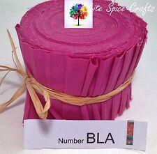"20 X 2.5""x 45"" PINK  Plain fabric Jelly Roll binding /edging BLA FREE POST AU"