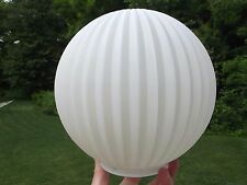 Vintage Mid Century frosted Glass Globe Hanging Swag ceiling lamp replacement