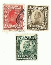Yugoslavia - 3 old postage stamps