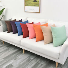 Solid color Outdoor Waterproof Pillow Cover Waist Throw Cushion Cover Home Decor