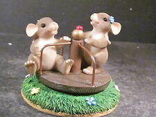 Charming Tails You Turned My Life Around Mouse Merry Go Round w/ Orig Box