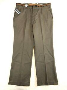 Vintage David Taylor Wrinkle Free Dress Pants Olive Green Men's Size 44 x 30