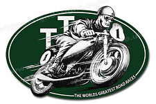 "I.O.M TT ROAD RACES DIGITALLY CUT OUT VINYL STICKER. 4.5"" X 3"" OVERALL SIZE"