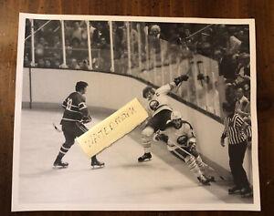 Orig 1975 Buffalo Sabres Playoff Photo vs Canadiens Schoenfeld Ramsay Mahovlich