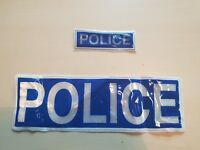 Ex Police Reflective Badge 2 Set Used Patch Collectors Obsolete film tv