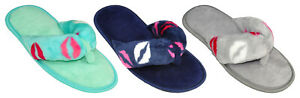 Ladies Women Plush Fuzzy Thong Spa Slippers Cozy Flip Flops Indoor House Shoes