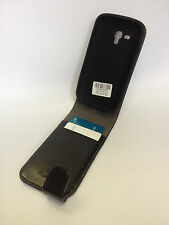 Genuine Musubo BLACK Leather Flip cover case pouch For Samsung Galaxy Y Duos